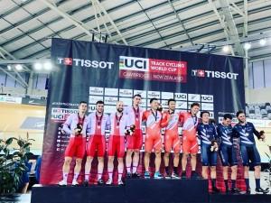 Srebrny medal dla drużyny sprinterów  -  Puchar Świata w australijskim Brsibane